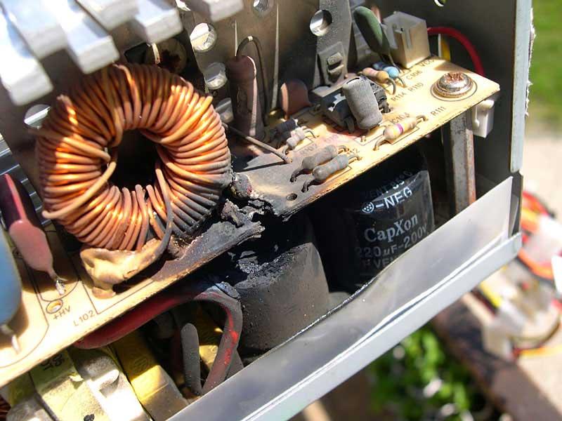 ЕАО почему сгорели конденсаторы в блоке питания начало народных гуляний